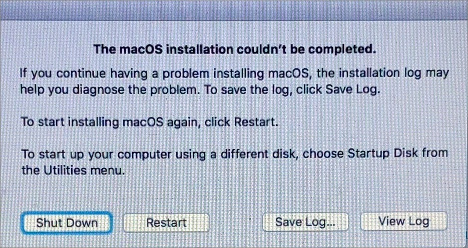 How to Fix MacOS Could not be Installed?