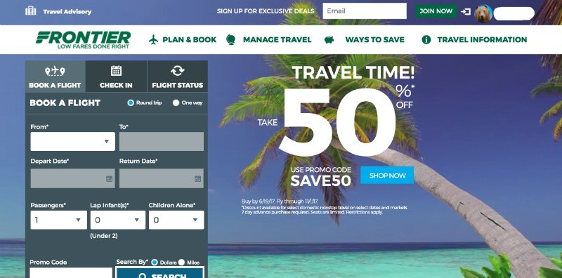manage my frontier airlines booking