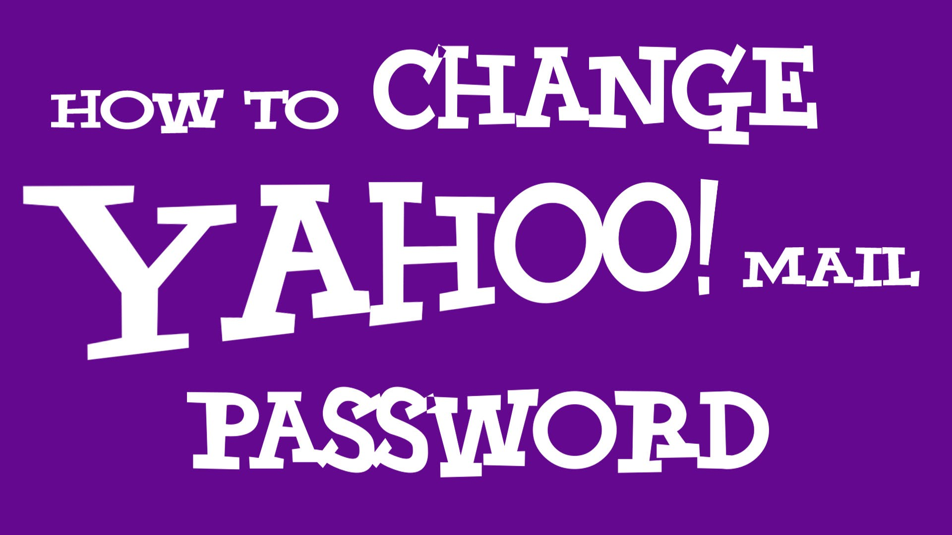 How You Can Change Your Yahoo Account Password?
